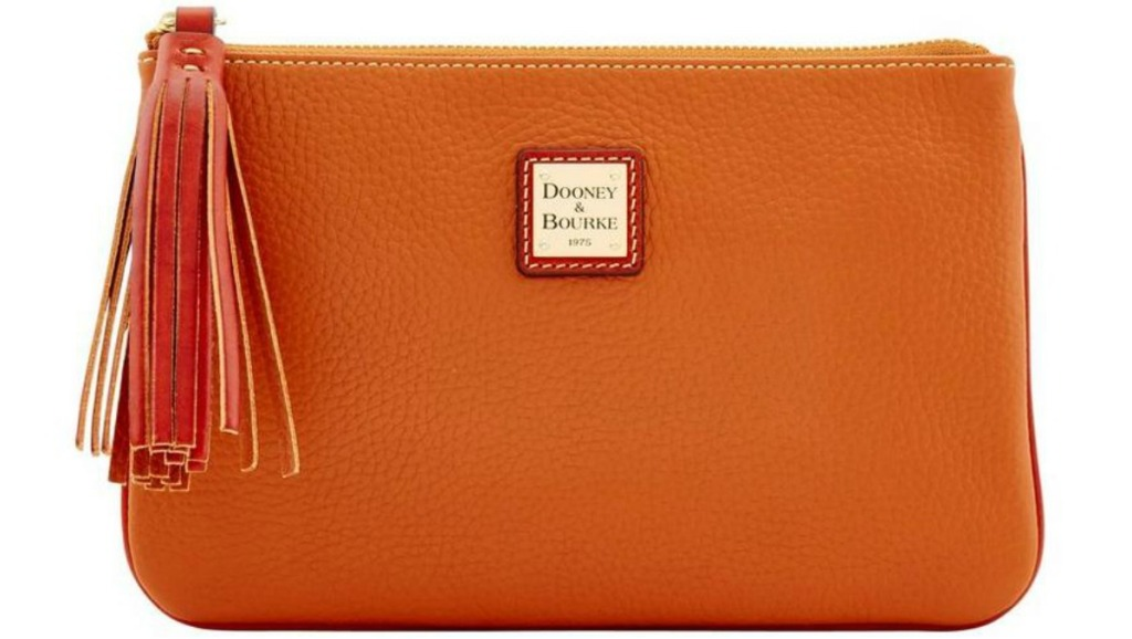 Dooney Carrington Pouch in tan leather