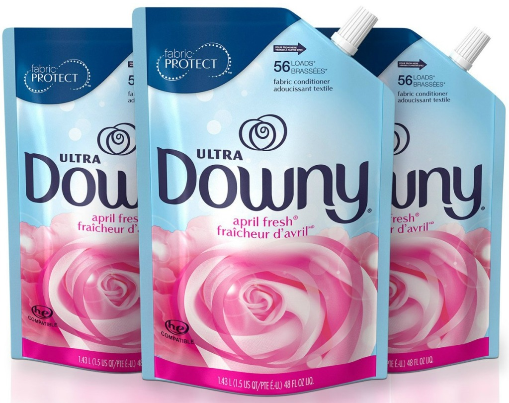 Three pack of Downy fabric conditioner in april fresh scent