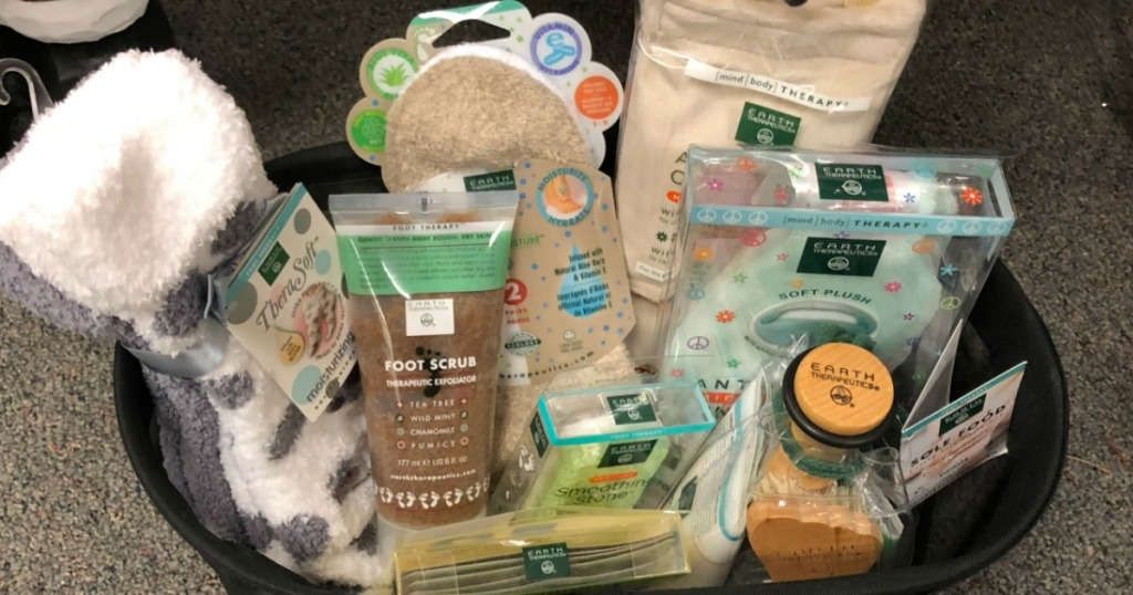 basket full of Earth Therapeutics products