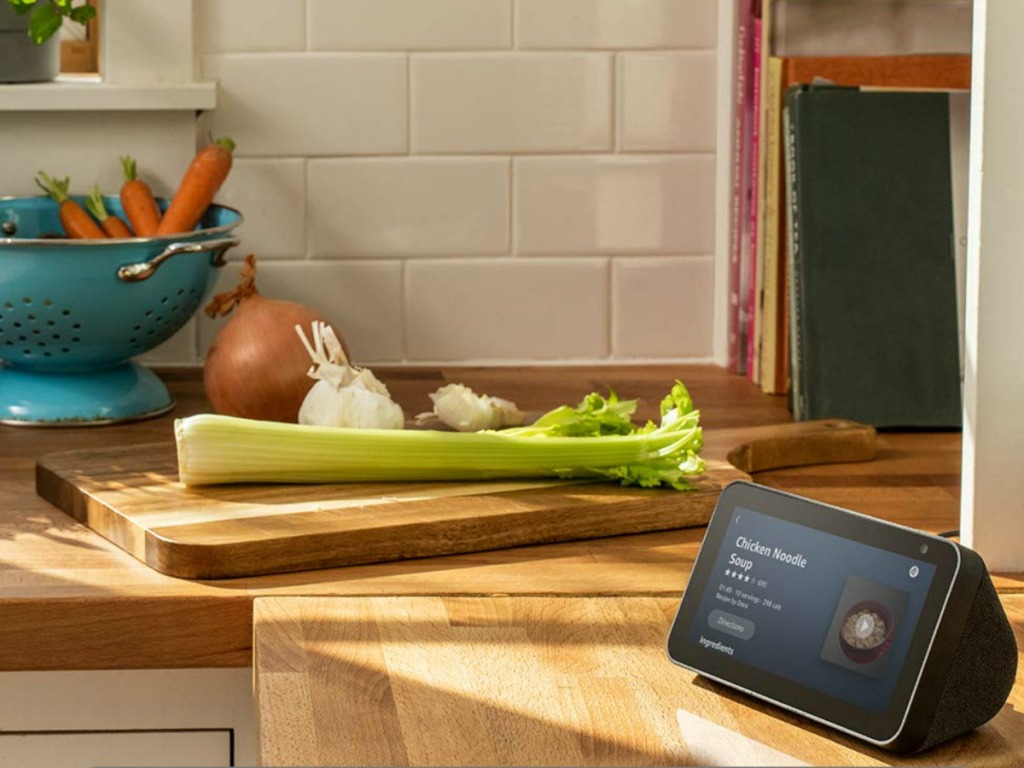 Echo Show 5 on kitchen counter