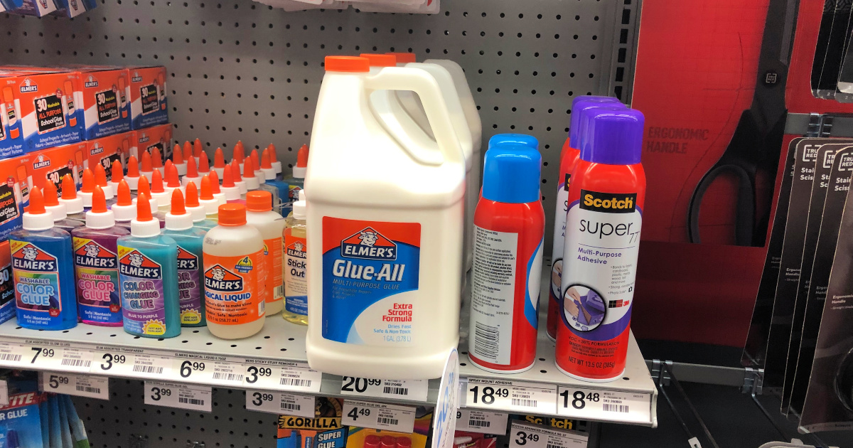 Elmer's glue on shelf