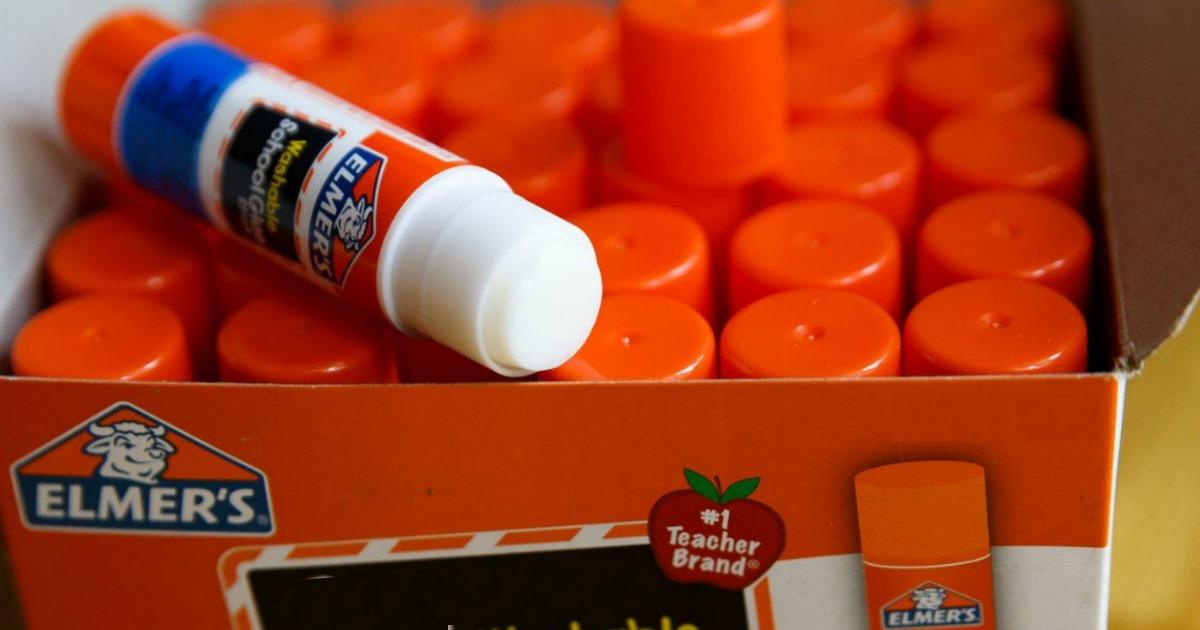 Elmer's Glue stick with cap off