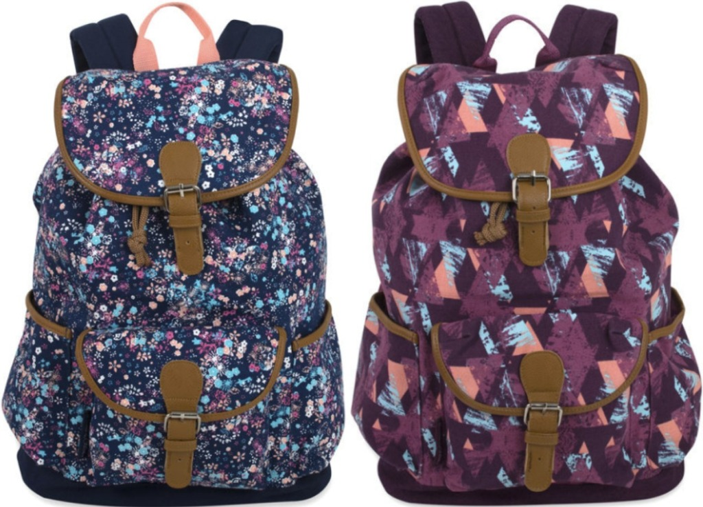 Two styles of canvas backpacks from JCPenney