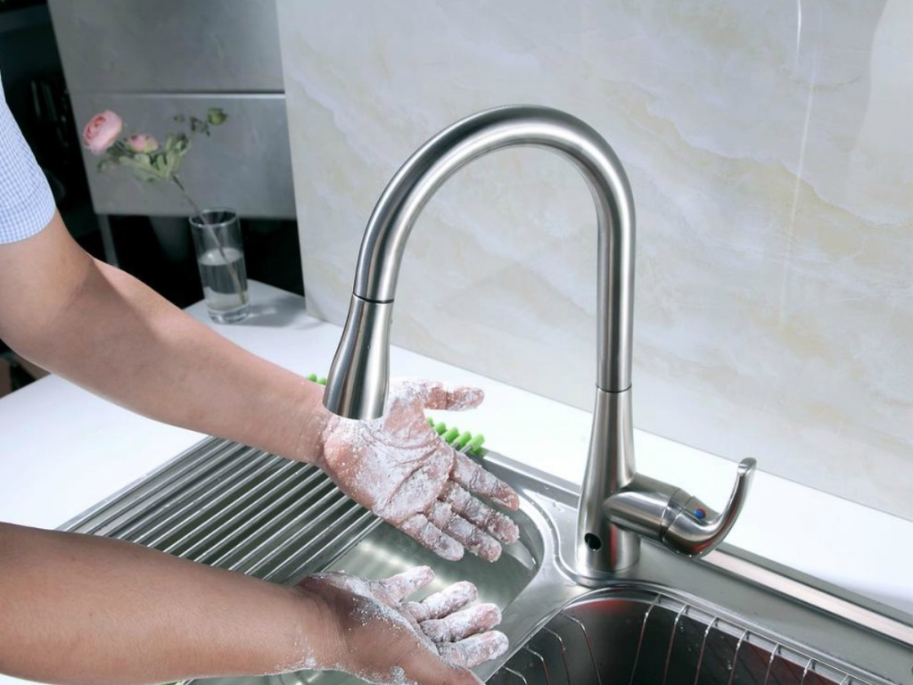 Flow Motion Sensor Kitchen Faucet Only 119 Shipped