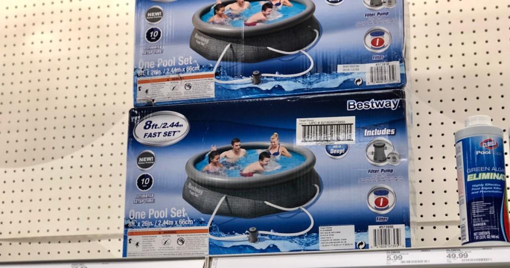 fast set pool on shelf at target