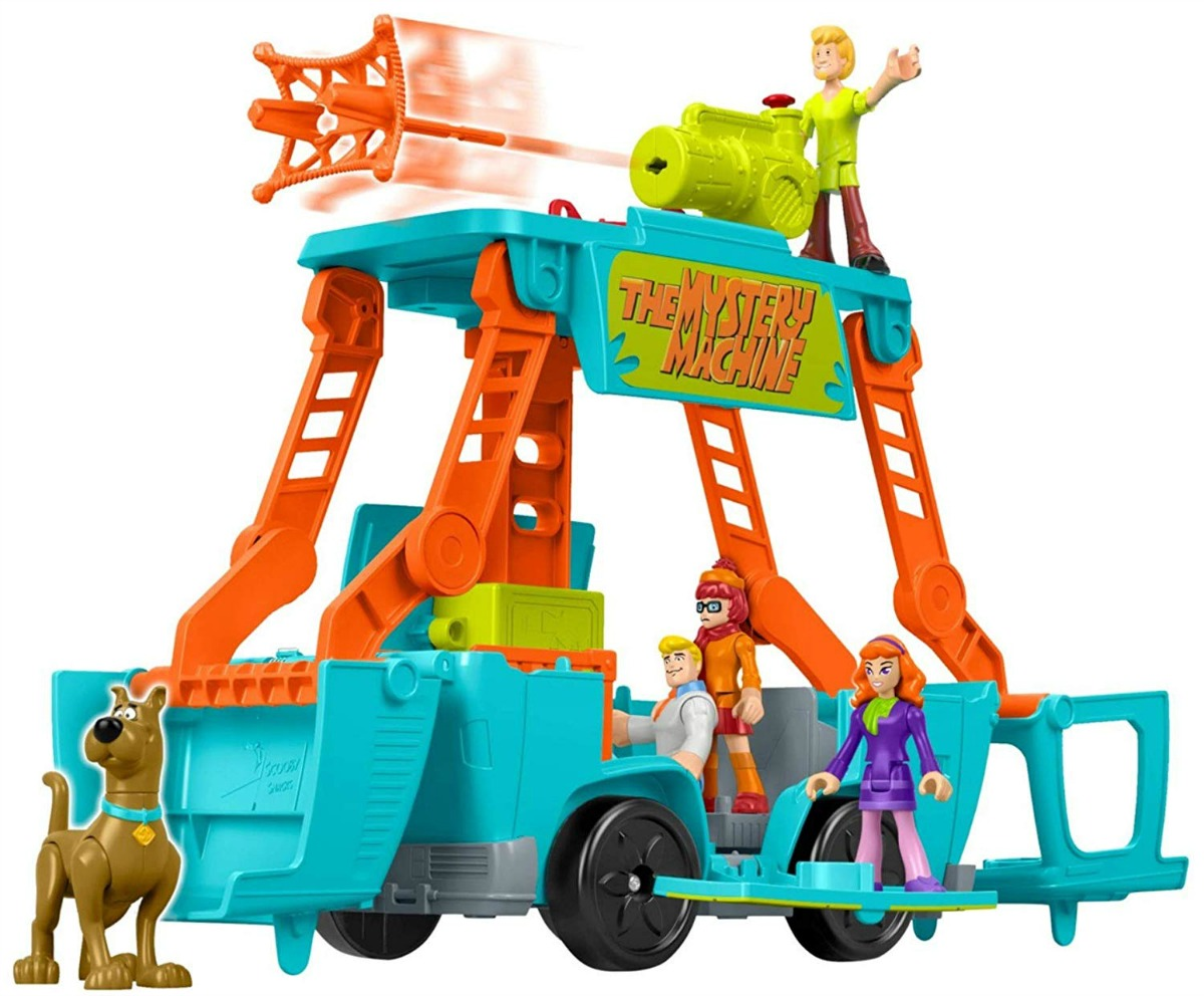 transforming mystery machine shown in action