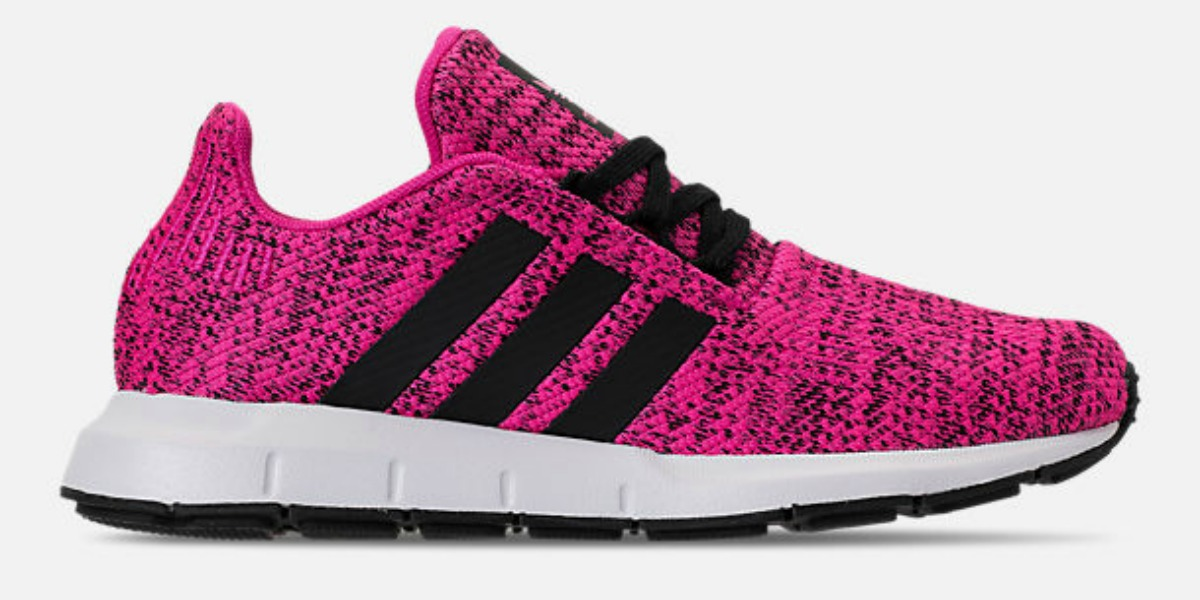 neon pink running shoes