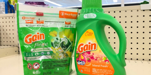 Gain Laundry Detergent Only $2.99 at Walgreens (In-Store & Online)