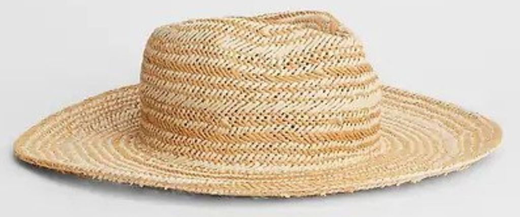 Women's Gap Factory Straw Hat on grey background
