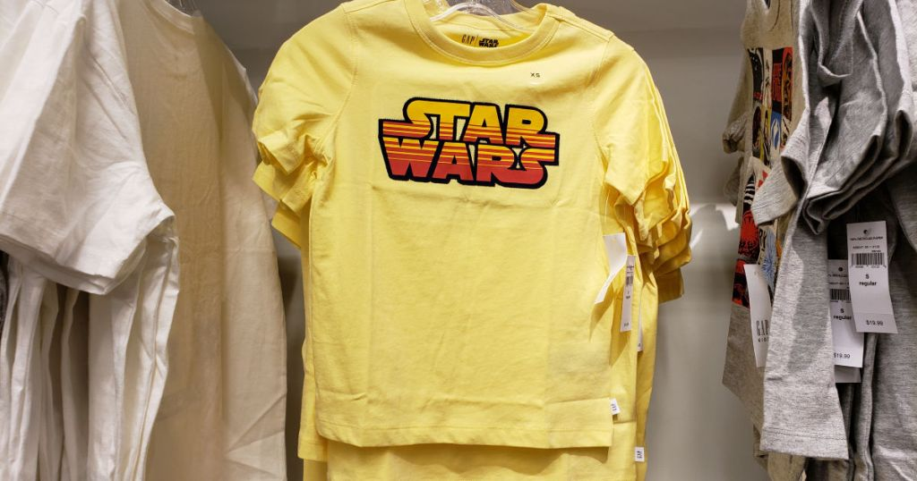 Gap Star Wars Yellow Tshirt in Store