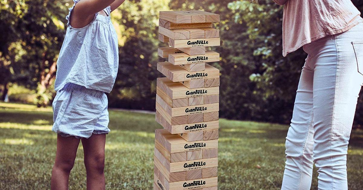 giant tumbling blocks game