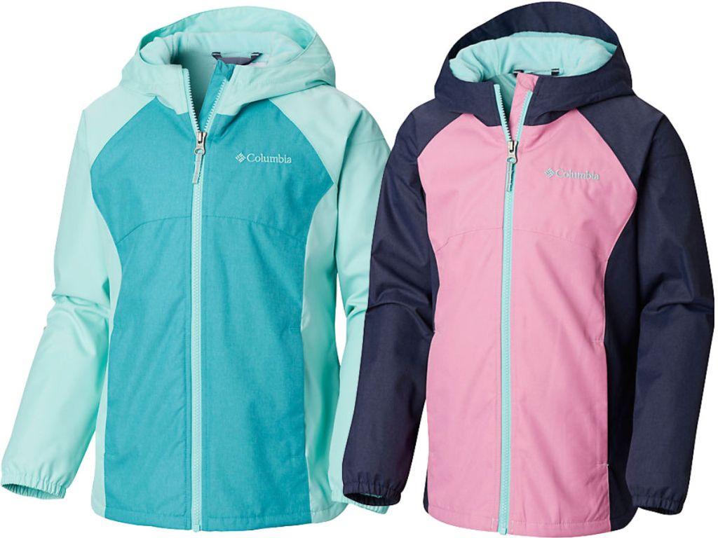 pink and blue columbia Girls Toddler Endless Explorer Jacket