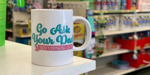 Fun Coffee Mugs Only $1 at Dollar Tree
