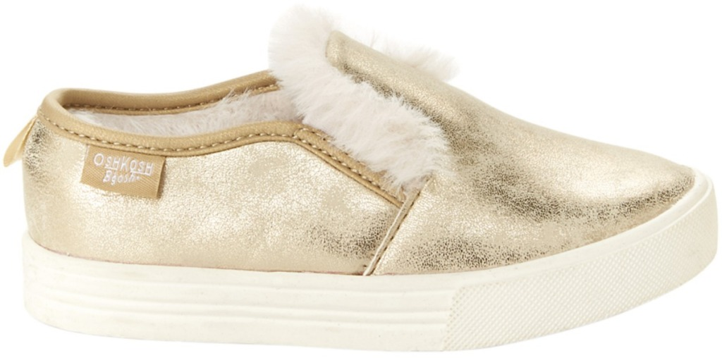 Golden Girls slip-on shoes with faux fur