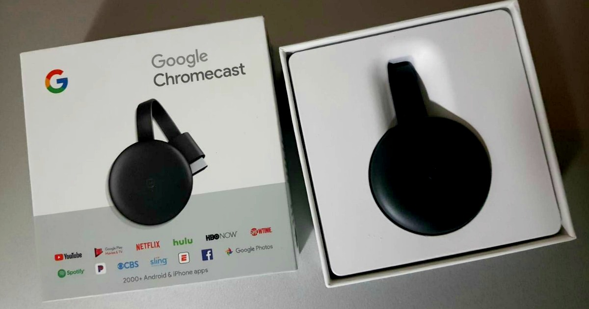 Google Chromecast in the package