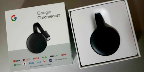 Google Chromecast + $5 Vudu Movie Credit Only $18.98 on Walmart.com (Regularly $30)