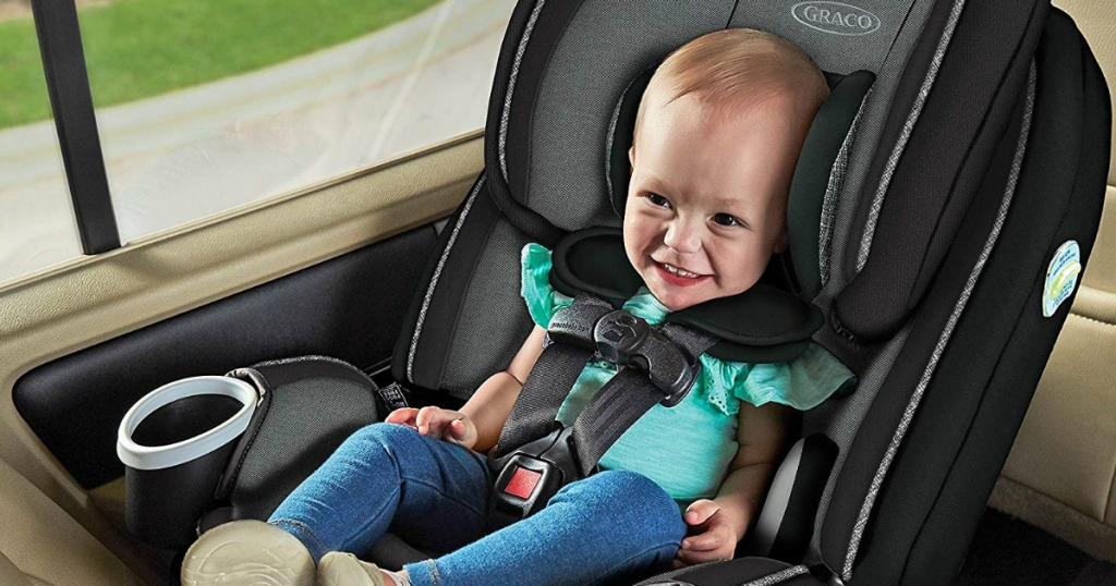 baby in Graco carseat