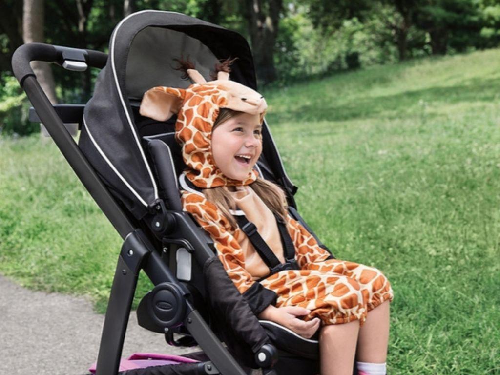 Graco Modes Stroller in giraffe costume