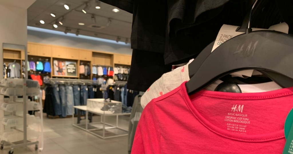 H&M Apparel inside store