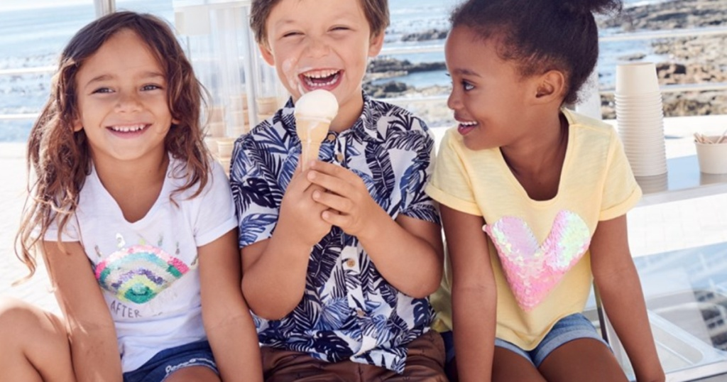 H&M Summer Sale kids eating ice cream