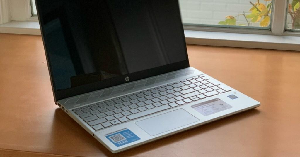 laptop sitting on desk