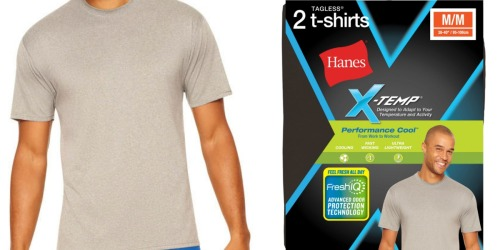 Hanes Men's Performance Cool Crew T-Shirts 2-Pack Only $5.99 at Walmart (Just $3 Each)