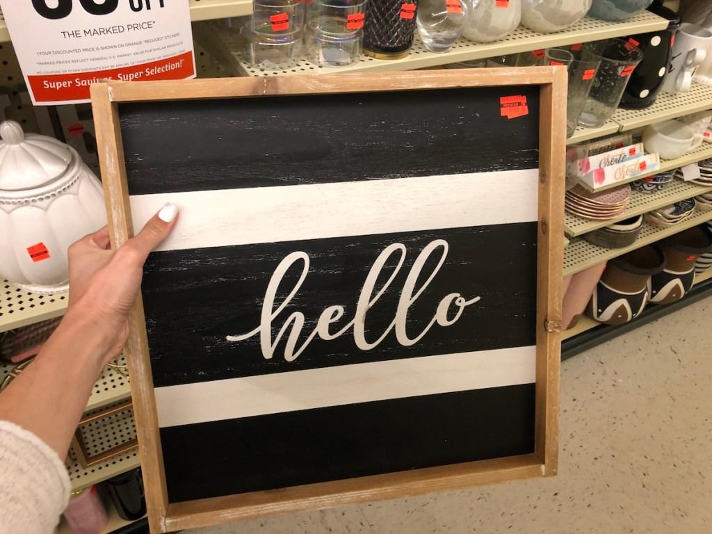 hello sign hobby lobby