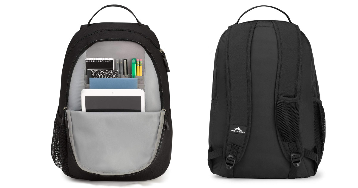 High Sierra Curve Backpack Black