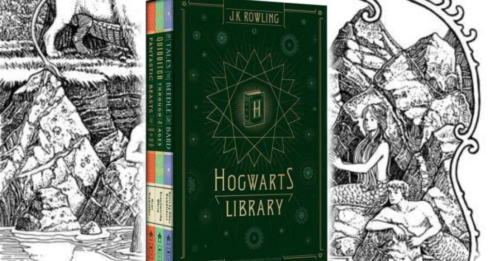 harry potter hogwarts library collection