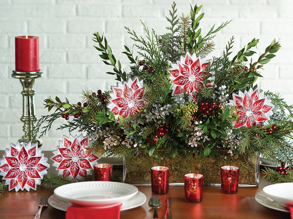 Holiday Time Based Red Gem Poinsettias