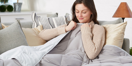 Up to 85% Off Weighted Blankets at Zulily | Available in 6-20 Pounds