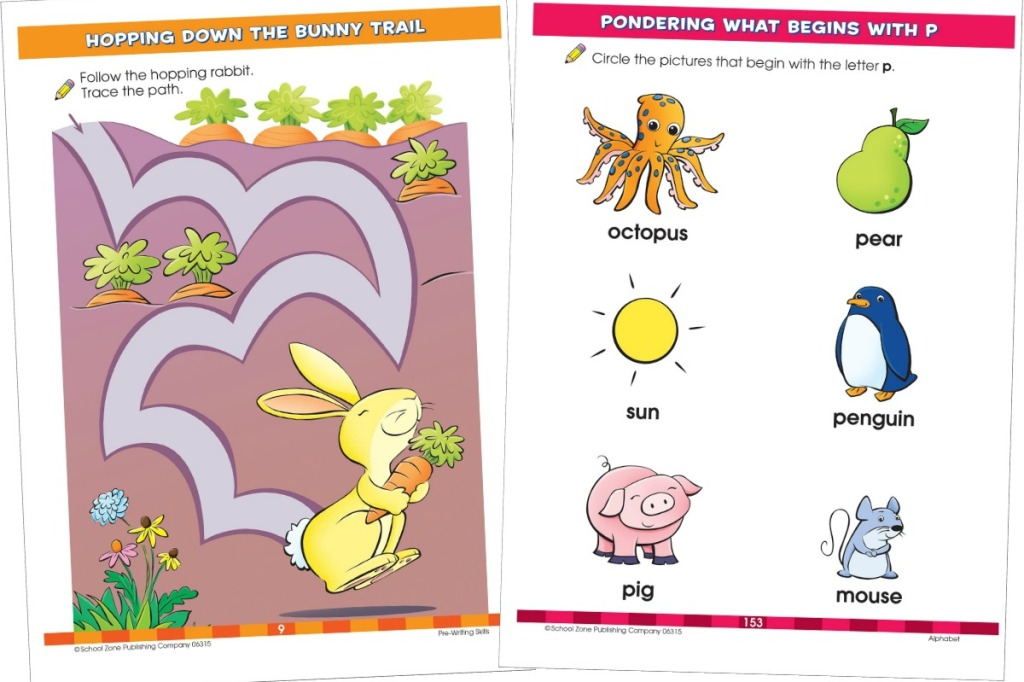 Pages out of the Big Preschool Workbook