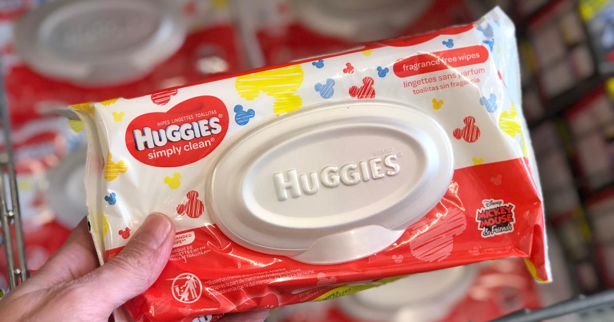 Huggies wipes at Dollar Tree