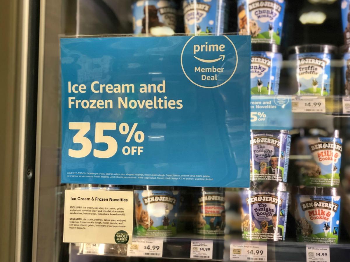 store sign advertising ice cream