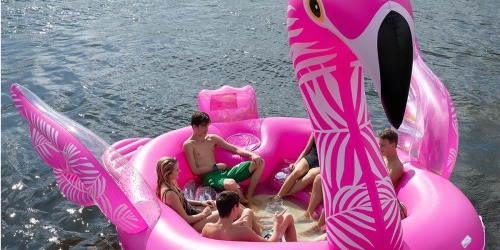 HUGE Inflatable Swan or Flamingo Party Island Only $69.81 Shipped (Regularly $170)