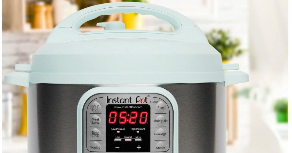 Instant Pot Duo 6-Quart 7-in-1 Programmable Pressure Cooker - Teal