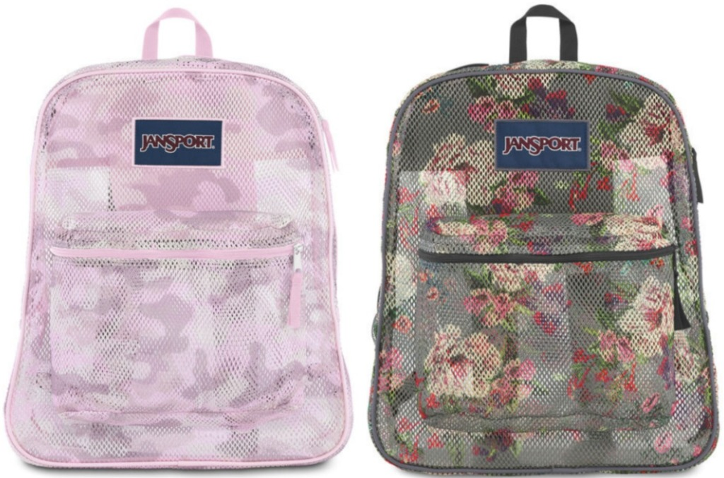Two styles of JanSport brand backpacks from JCPenney