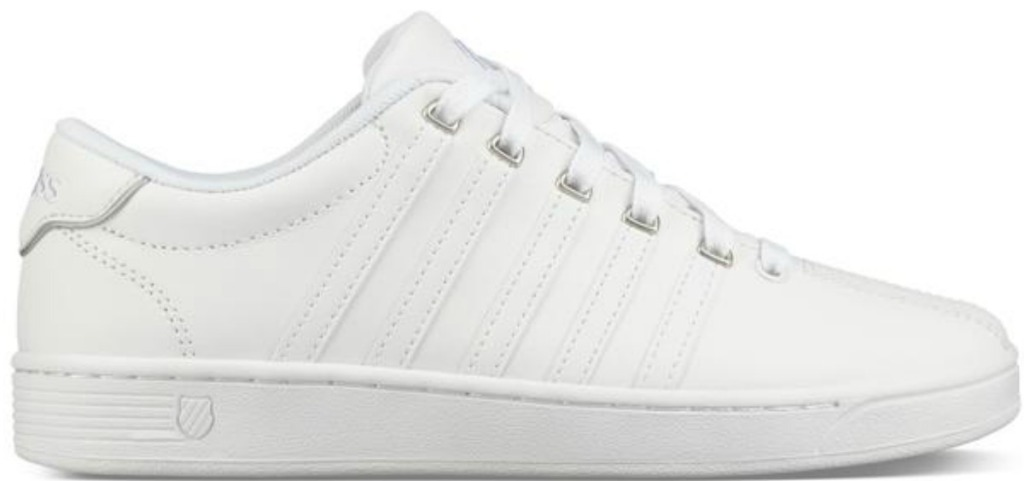 all white k-swiss shoes