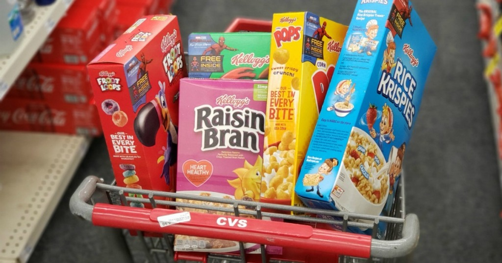 Kellogg's Cereals in CVS cart