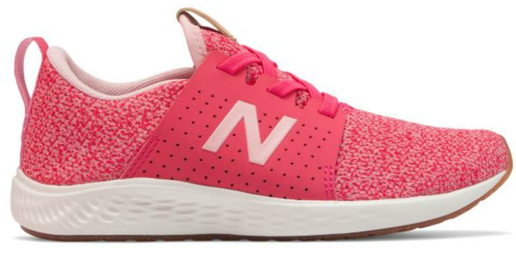 Hot pink girls shoe from New Balance