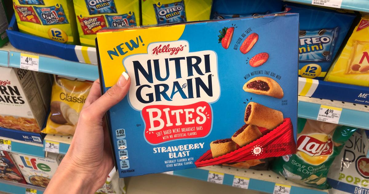box or kids nutri grain strawberry bites at store