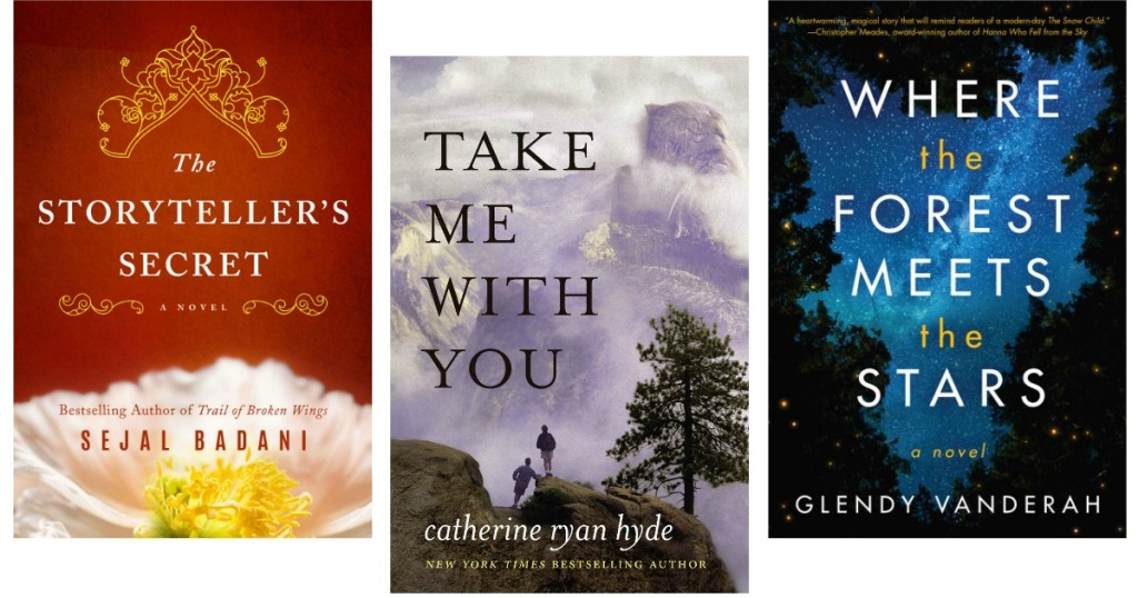 Kindle ebook jackets for The Storyteller's Secret, Take Me With You, and Where the Forest Meets the Stars