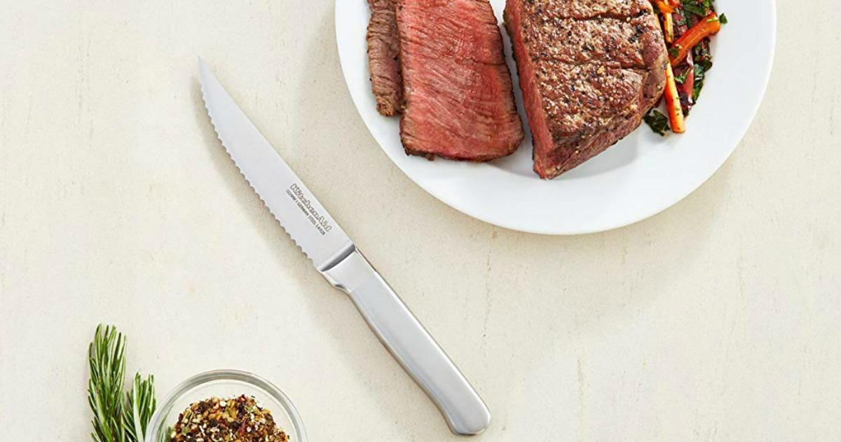 KitchenAid Steak Knife next to steak
