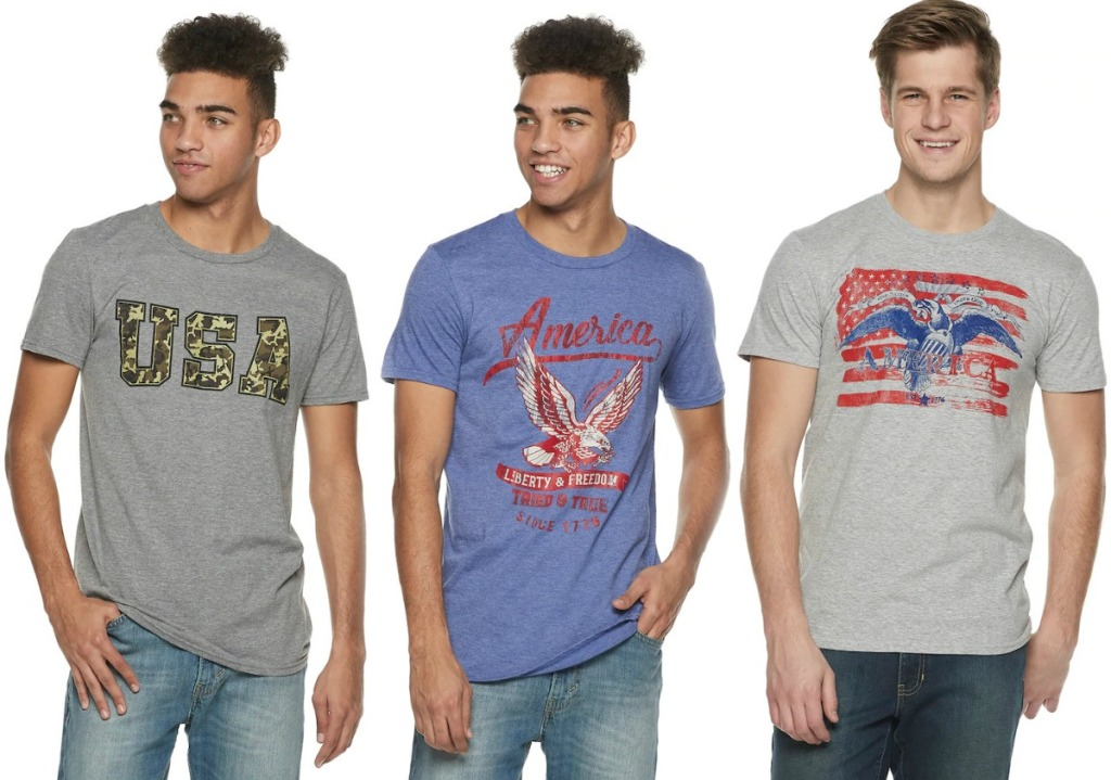 USA-themed Men's Graphic Tees from Kohl's