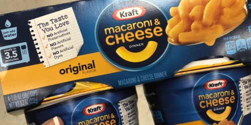 Kraft Easy Mac Cups 10-Pack Only $5 Shipped on Amazon | Just 50¢ Per Cup