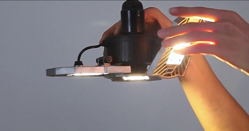 LED ADjustable Light with hand adjusting one blade