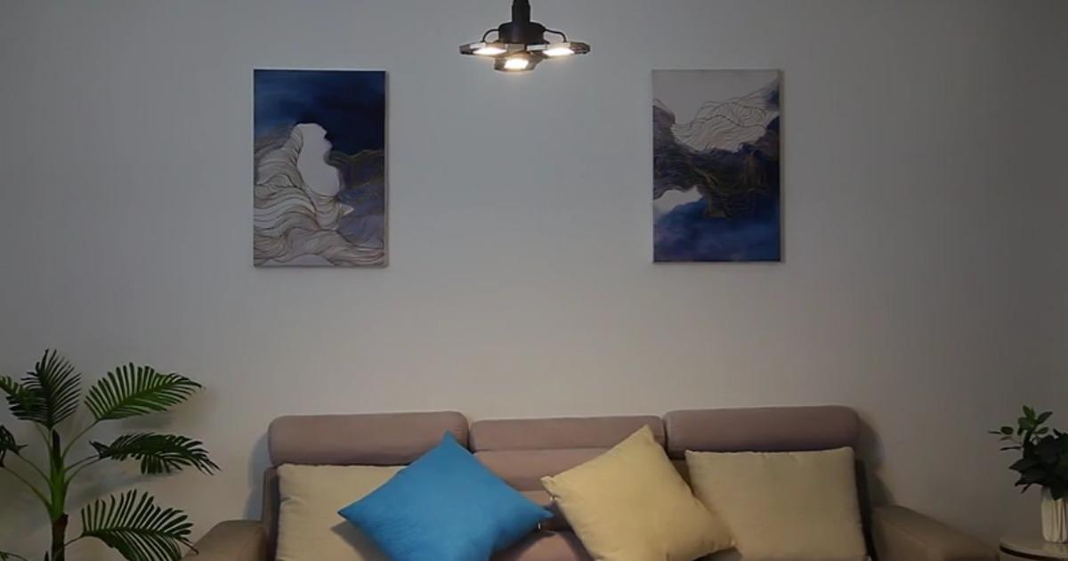 LED ADjustable Light installed in living area