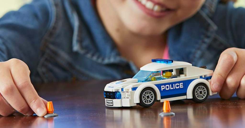 LEGO City Police Patrol Car child playing with this set