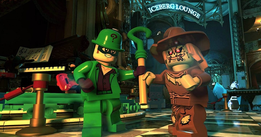 shot of the video game with lego super villain character