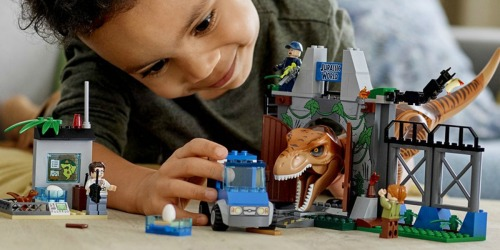 LEGO Juniors Jurassic World T. Rex Breakout Set Only $25.99 (Regularly $50)